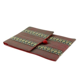 Handmade Cotton 'Assam Fields' iPad Sleeve (India)