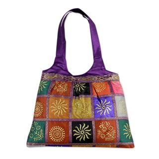 Handmade Embellished 'Purple in Kutch' Tote Handbag (India)
