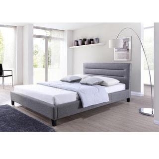 Porch & Den Mildred Grey Fabric Upholstered Platform Bed