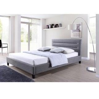 Clay Alder Home Mildred Grey Fabric Upholstered Platform Bed