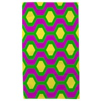 Neon Party Honeycomb Pattern - Rug (4'x 6') - multi