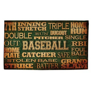 Baseball Words - Rug (4'x 6') - 4'x 6'