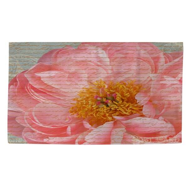 Shop Pink Rose Cursive Rug 4 X 6 On Sale Free