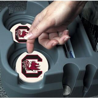 South Carolina Gamecocks Absorbent Stone Car Coaster (Set of 2)