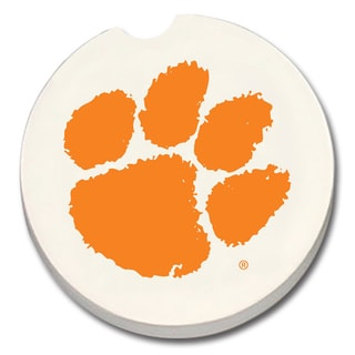 Clemson Tigers Absorbent Stone Car Coaster (Set of 2)