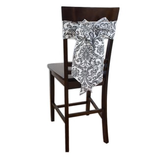Abigail Storm Twill Chair Tie with Tapered Ends & Serged Edges,