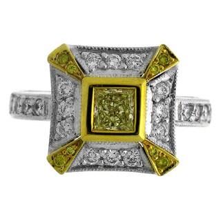 Azaro 18k Two-tone Gold 7/8ct TDW Diamond Fashion Ring (G-H, SI1-SI2)
