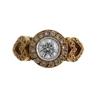 Azaro 18k Two-tone Gold 1 1/3ct TDW Pink and White Diamond Fashion Ring (5 options available)