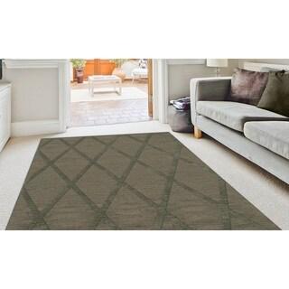 Newport Beach Rectangular Diamond Wool Rug (3' x 5')