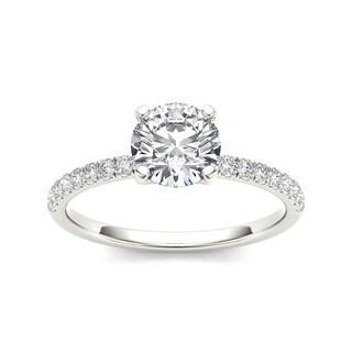 De Couer 14k White Gold 1 1/4ct TDW Diamond Classic Engagement Ring (H-I, I2)