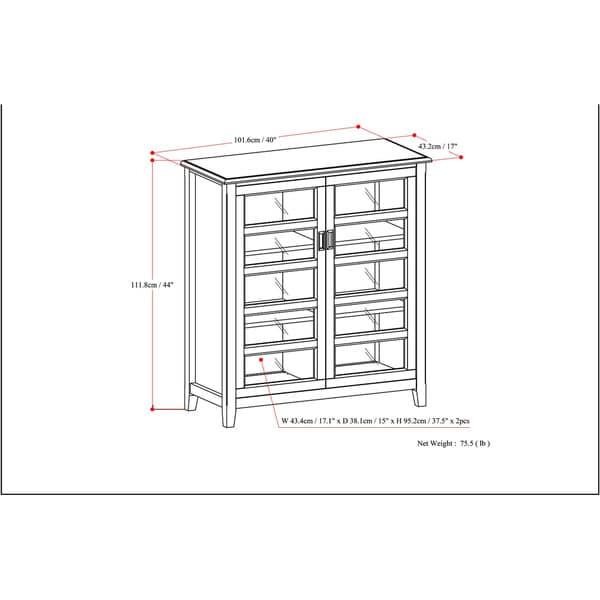 WYNDENHALL Portland Medium Storage Cabinet - Free Shipping Today ...