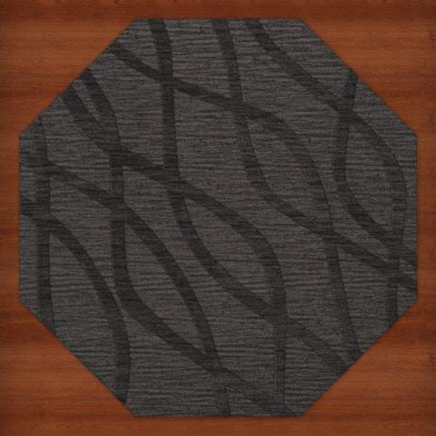 Newport Beach Octagon Abstract Wool Rug (10' x 10')