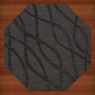 Newport Beach Octagon Abstract Wool Rug (10' x 10')