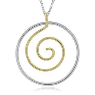 Journee Collection Sterling Silver Handmade Circle Pendant