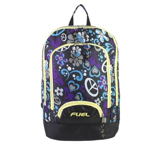Fuel Purple Hearts Triple Pocket Laptop Backpack