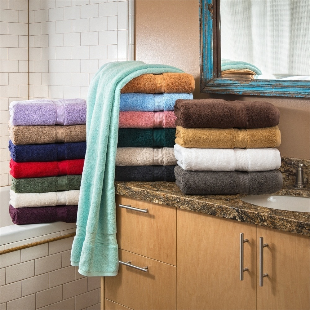 Bath Towel Set 6pc Washcloths 900gsm in Many Colors Plush Egyptian Cotton Towels