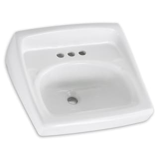 American Standard Lucerne Wall-Mount Porcelain 18.25 20.50 Bathroom Sink 0356.041.020 White