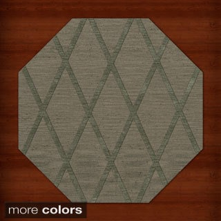 Newport Beach Octagon Diamond Wool Rug (10' x 10')
