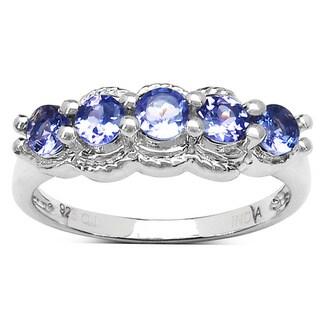 Olivia Leone 0.75 Carat Genuine Tanznaite .925 Sterling Silver Ring