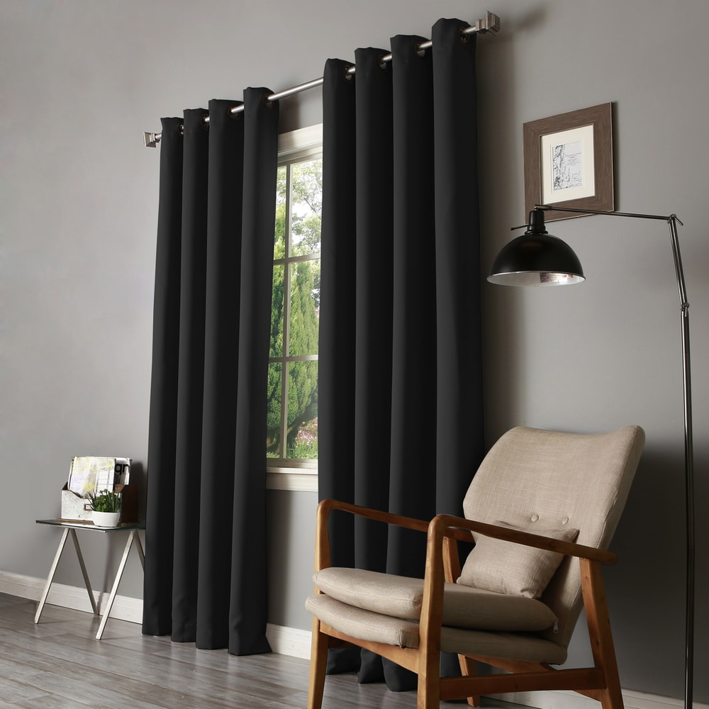Shop Aurora Home Thermal Insulated Blackout 90 Inch Curtain Panel Pair - 52