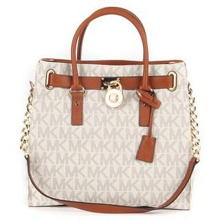 Michael Kors Large Vanilla Signature Hamilton Tote Bag