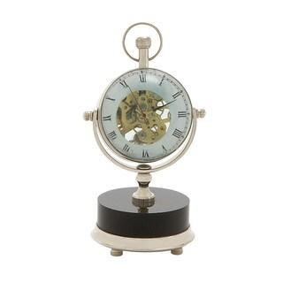 Artistic Brass Nickel Table Clock