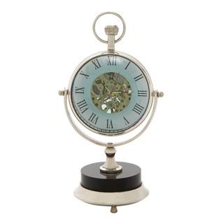 Exquisite Brass Nickel Table Clock