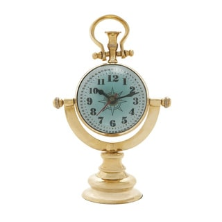 Visual Marvel Brass Table Clock
