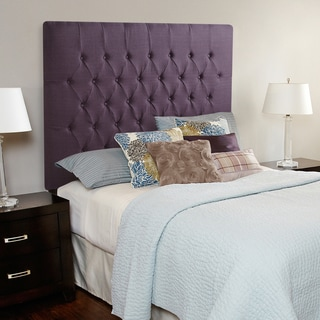 Humble + Haute Halifax Iris Purple Linen Tall Full Diamond Tufted Upholstered Headboard