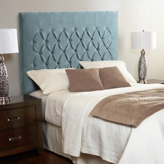 Humble + Haute Halifax Velvet Sky Blue Tall Diamond Tufted Upholstered Headboard
