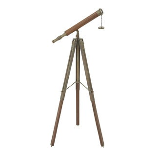 Antique Themed Metal Wood Telescope