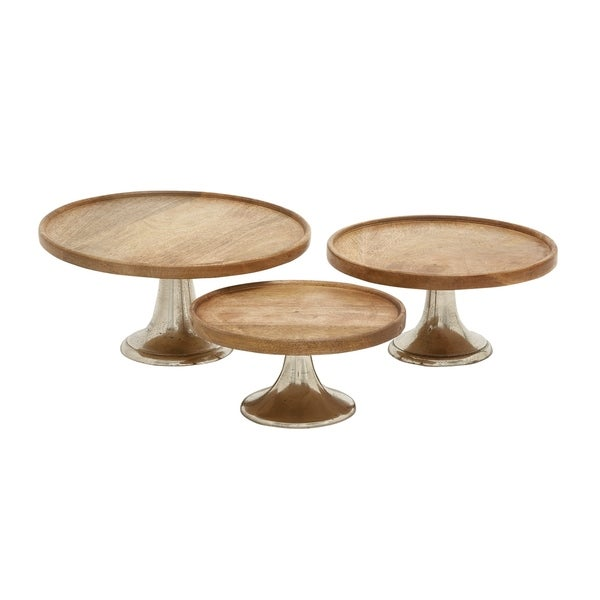 Modern 10 12 and 14 Inch Pedestal Cake Plates (Set of 3)by  sc 1 st  Overstock & Shop Modern 10 12 and 14 Inch Pedestal Cake Plates (Set of 3)by ...