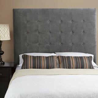 Humble + Haute Stratton Velvet Grey Tall Tufted Upholstered Headboard