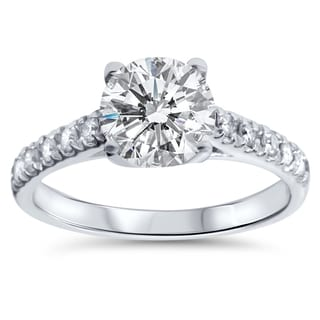 14k White Gold 2 1/4ct TDW Diamond Clarity Enhanced Engagement Ring (I-J, I2-I3)