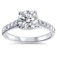 14k White Gold 2 1/4ct TDW Diamond Clarity Enhanced Engagement Ring