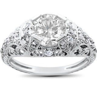 14k White Gold 1 1/3ct TDW White Diamond Engagement Ring (I-J, I2-I3)