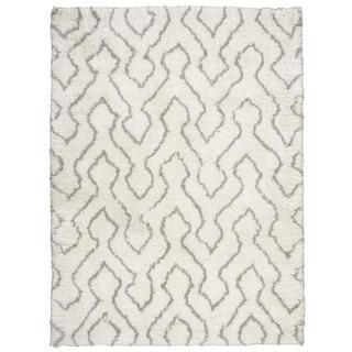 Rug Squared Camarillo Ivory/Sage Shag Rug (7'6 x 9'6)