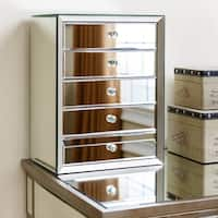Abbyson Omni Mirrored 5-drawer Jewelry Box