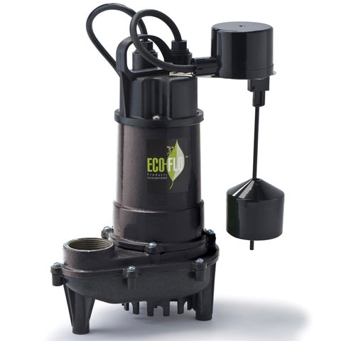 ECO-FLO ECD50V Cast Iron Submersible 1/2 HP 4400 GPH Sump Pump with Verticle Switch