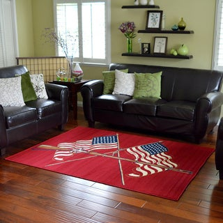 American Patriot Area Rug (5' x 7')