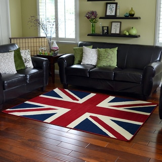 Union Jack Area Rug (5' x 7')