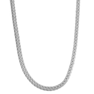 Gioelli Sterling Silver Foxtail Chain Necklace (2 options available)