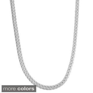 Gioelli Sterling Silver Foxtail Chain Necklace