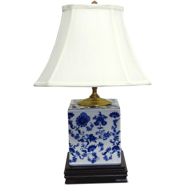 Blue ceramic table lamps - Blue And White Floral Porcelain Table Lamp Free Shipping Today