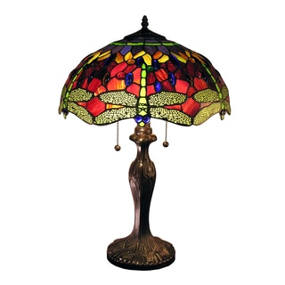 Warehouse of Tiffany Jadyn 16-inch Red Dragonfly Table Lamp