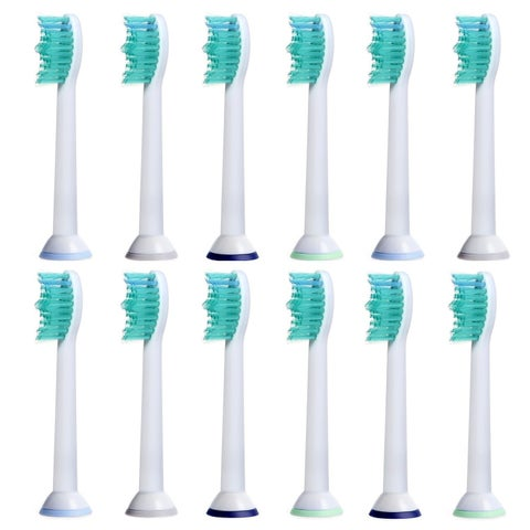 Replacement Toothbrush Heads Compatible with Sonicare Electric Toothbrushes (Pack of 12)