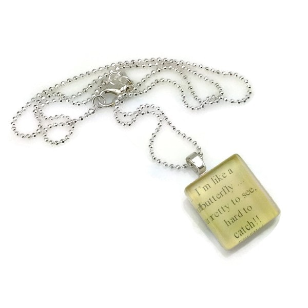 Mama Designs GlassTile Inspirational Necklace