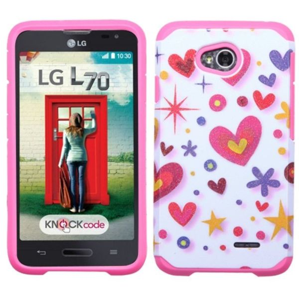 Insten Pattern Armor Hard PC/ Silicone Hybrid Phone Case Cover For LG ...