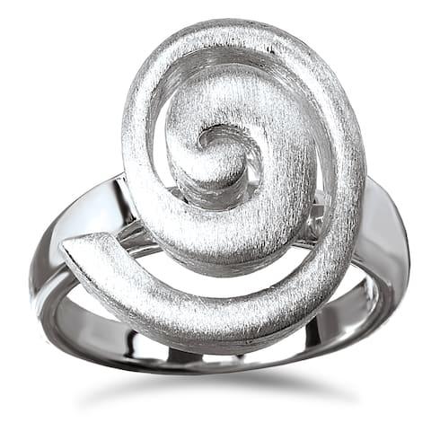 Avanti Sterling Silver Satin Finished Swirl Ring