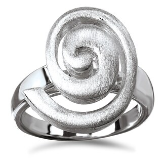 Avanti Sterling Silver Satin Finished Swirl Ring